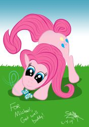 Pinkie-pie dedicated to Michael Morones by psdguy