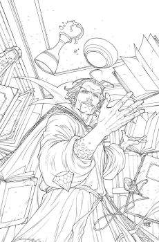 High Res Doctor Strange Cover by rogercruz