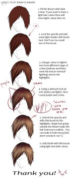 Hair CG tutorial by papuzka