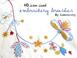 Embroidery brushes by luminicity