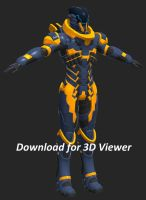 3D Model Viewer: Scifi Soldier by Garm-r