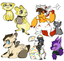 Group Of Lovely Nerds by woooper