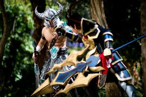 Tryndamere vs J4 cosplay - This is MY lane. by JFamily