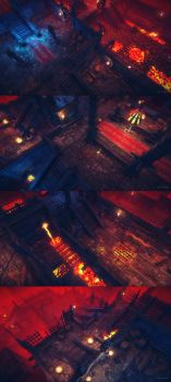 Top-down Dungeons Asset Pack - Low Poly by brainchilds