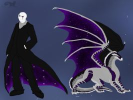 S'S:Fire and Ice-Darkseer and W.D. Gaster by BlackDragon-Studios