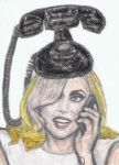 Lady Gaga talking on the cell phone by gagambo