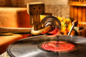 Danbo is Listening to a Song.. by Q8iEnG