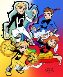Marvel's Power Pack by Tom Bancroft by edCOM02