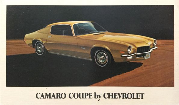 1971 Camaro Coupe by Chevrolet by Yesterdays-Paper