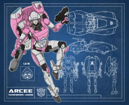 Blueprint Transformers Arcee (Legends LG-10) by archaznable30