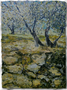 Olive Tree and Stone Wall by samlennon