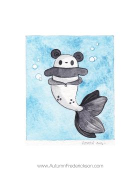 Little Panda Mermaid by PocketPandasArt