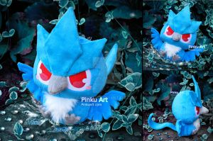 Baby Articuno plush I Pokemon by PinkuArt