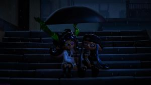 You Need An Umbrella? (Splatoon SFM Poster) by Johnny-Inkling