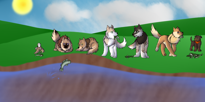 Fishing Party by FuryRed