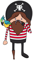 Hipster Pirate by beblue