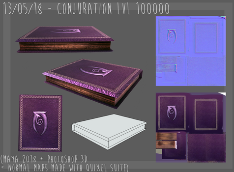lowpoly conjuration book by terostrix
