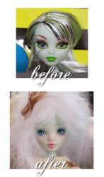 Cafuliett, her before and after look by blanki