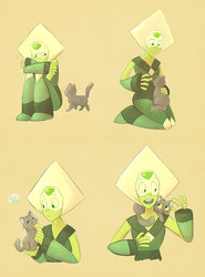 Peridot + Kitty by Phoelion