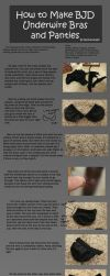 How to Make BJD Underwire Bras and Panties by RodianAngel