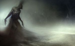 Thing in the road (final version) by Manzanedo