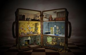 Dollhouse in a suitcase by Energiaelca1