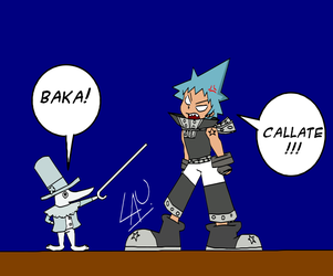 Excalibur and Black Star by kuki4982