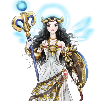 [AoT/SnK] OC Collab - Giselle As Palutena by milkcupie