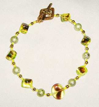 Bracelet - Yellow and Gold by EricaSkye