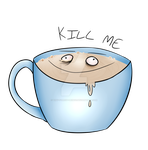 [REDBUBBLE] tired kill me coffee by Tiny-Forest-Prince