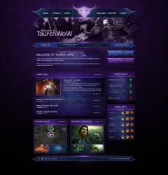 WebLayout WoW Private Server by NannocDesign
