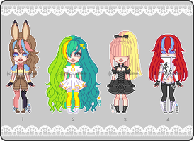 multicolored hair adopts (CLOSED) by themaunster
