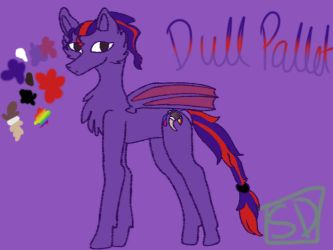 Dull Pallet~ Ponysona by SpelloftheDead