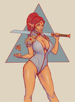triangle. character concept by kastep