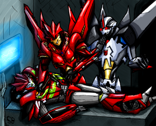 Request: Redshift and Starscream by SoundBluster