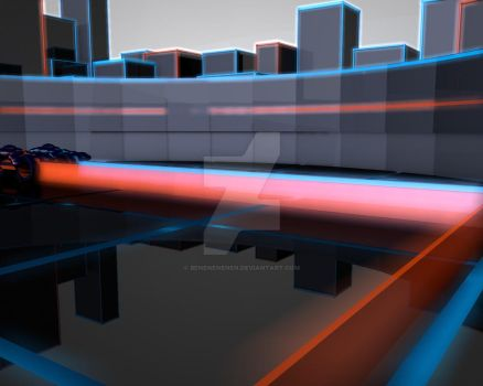 Tron Low Poly 2 by Benenenenen