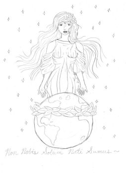 Sketch: Aphrodite and World by Searapheena