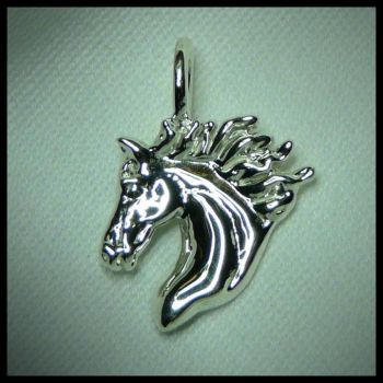 Horse Pendant Necklace Equine Jewelry Horse Head by DragonsFlyDesigns