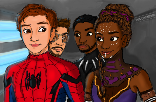 Peter and Shuri by sparrowscaribbean