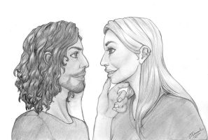 Mike and Ashley - Couples Portrait [Commission] by JTNanashi