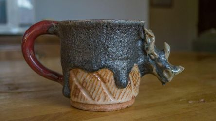 Rhino Mug Ceramics Commissions Open by SunStateGalleries