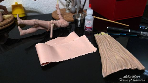 Mulan cape - WIP by Falconsong