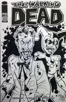 Joker and Harley Zombie Sketch Cover by calslayton
