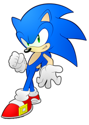 Sonic Sticker by 1HardDan1