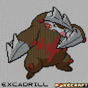 Pokecraft Excadrill by PkmnMc