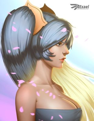 Sona portrait by exaelart