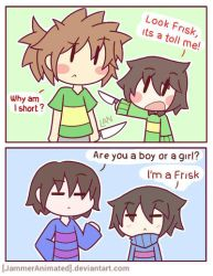 [GIFT-UT] A Pair of Chara and Frisk by JammerAnimated