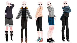 MMD - Male Base Pack(DL+) by Obi-Hates-everyone
