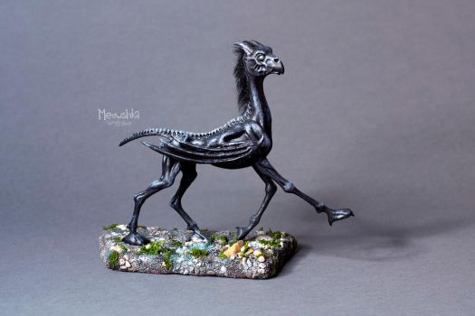 Thestral foal by miaushka-workshop