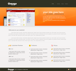 Orange by PSDTemplate.com by psdtemplate